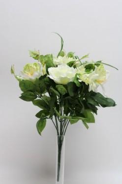 Kytica ruža + gerbera + orchidea