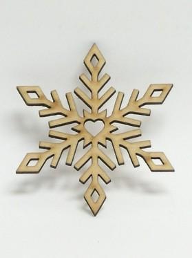 Drev. výrez.:Snehová vločka