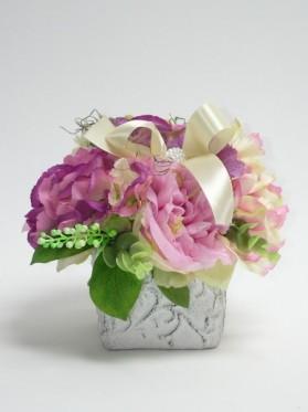 Črepník kocka pivonka + hortenzia