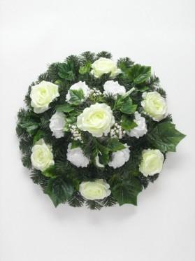Aranž.veniec kruh+gypso+ruža+doplnky