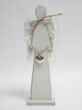 Anjel drevený 35 cm