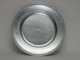 Tácka ozdob. strieborná plast. 33cm