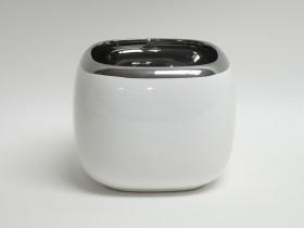 Črepník keram. biely