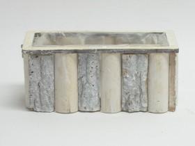 Črepník z kôry hranol 25x12x11