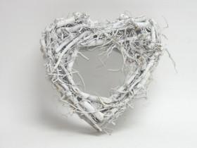 Srdce prútené 30 cm