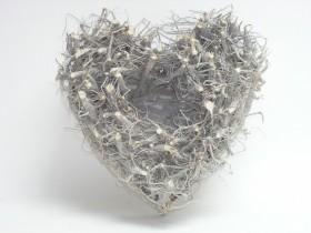 Črepník srdce prútené 40x18