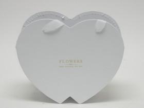 Flower box srdiečko biele