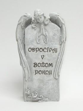 Tabuľa anjel s nápisom