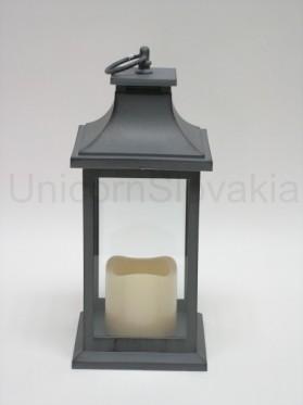 Lampáš s mihotavou LED sviečkou