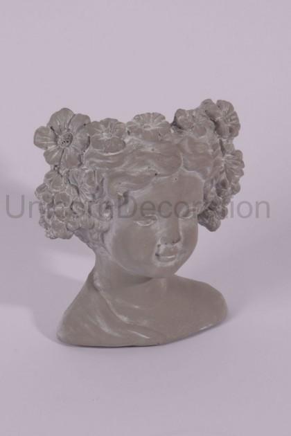 Kvetináč busta hlavy 23 cm
