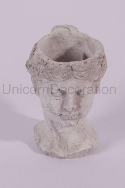 Kvetináč busta hlavy 22 cm