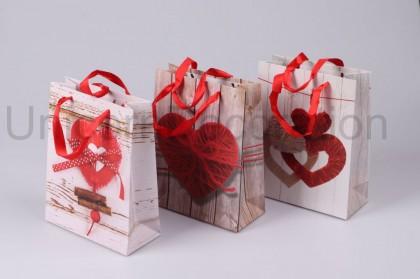 Darčeková taška srdce 23x18 cm