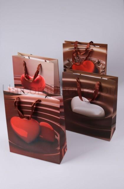 Darčeková taška srdce 32x26 cm
