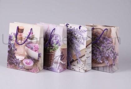 Darčeková taška levanduľa 24x18 cm