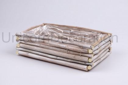 Črepník z drievok 28x18 cm